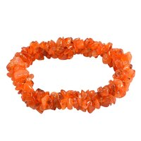 Carnelian Gemstone Chips Stretchable Bracelet