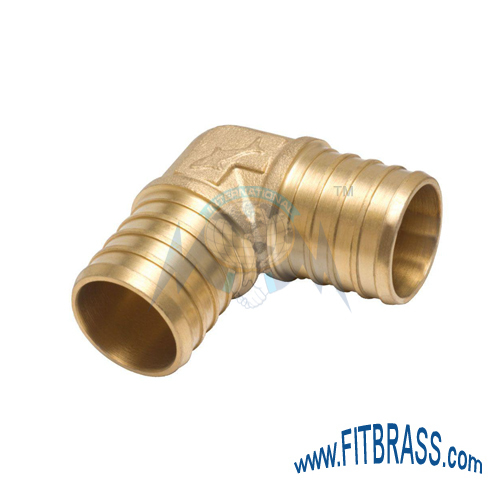 BRASS PEX BARB ELBOW