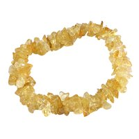 Citrine Gemstone Chips Stretchable Bracelet