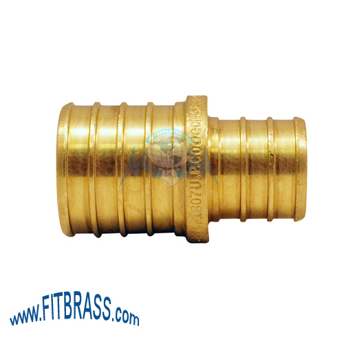 BRASS PEX BARB REDUCING COUPLING