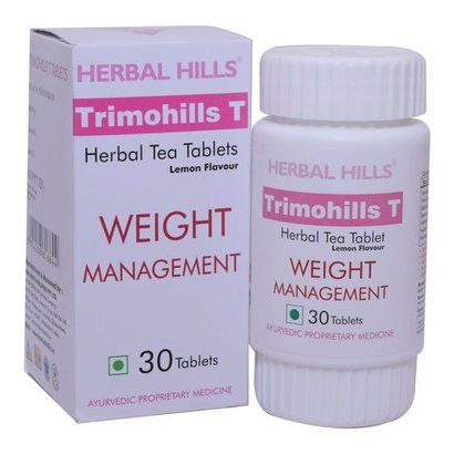 Ayurvedic Supplement For Weight Loss - Trimohills T - 30 Tablets With Lemon Flavour Certifications: Iso