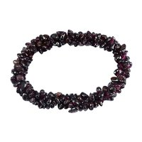 Garnet Gemstone Chips Stretchable Bracelet