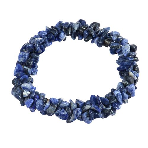 Sodalite Gemstone Chips Stretchable Bracelet