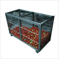 Commercial Vegetable Steel Cage Trolley