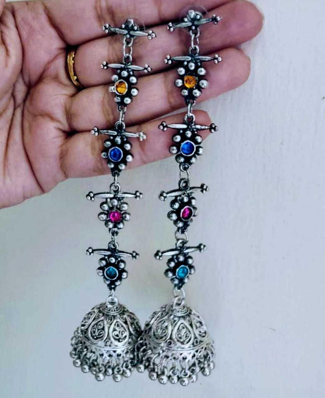 Metal Jhumka Earrings