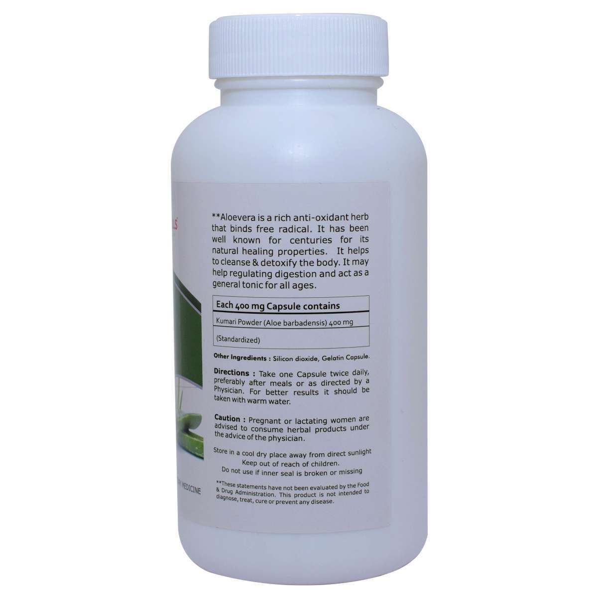 Aloevera capsule healthy skin & Digestion - Aloehills