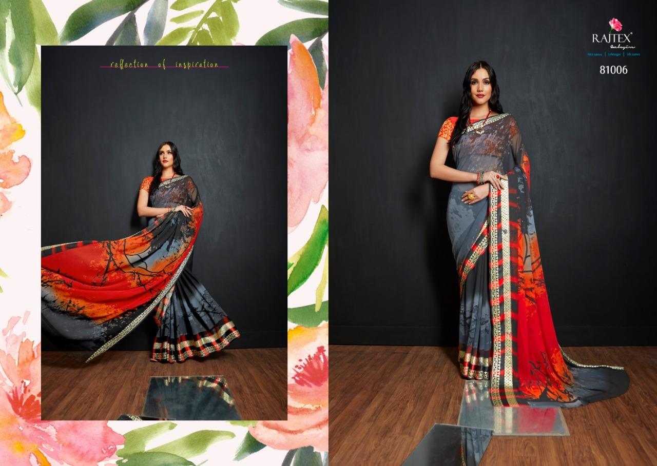 Viscose printed sarees
