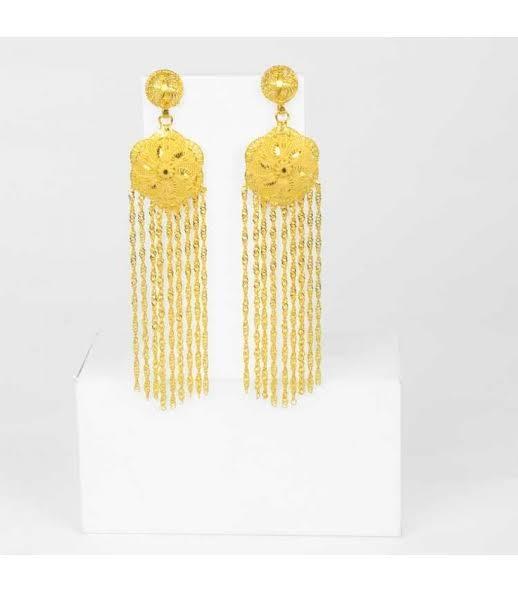 Fancy Gold Plated Jhumka Earrings