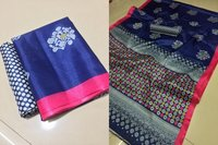 Bhagalpuri Khadi Printed Saree With Fancy Blouse