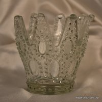 Cutting Glass Antique Shape Candle Holder