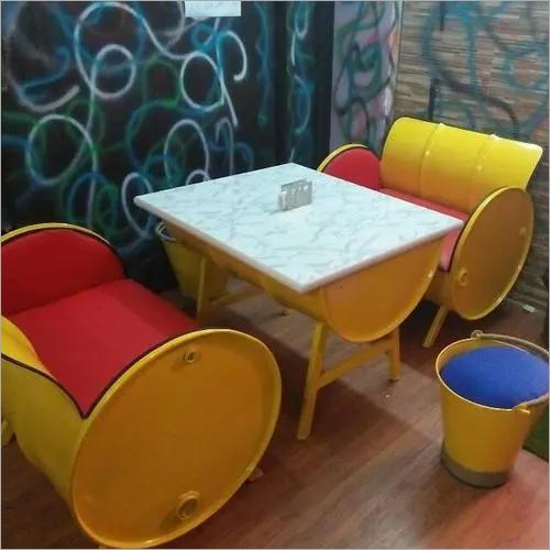 Antique Drum Dining Table Set