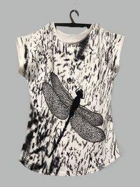 Girls Honey Printed T shirt Top