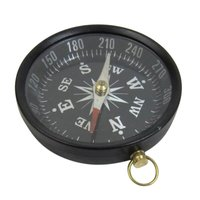 Antique Aluminum Flat Compass