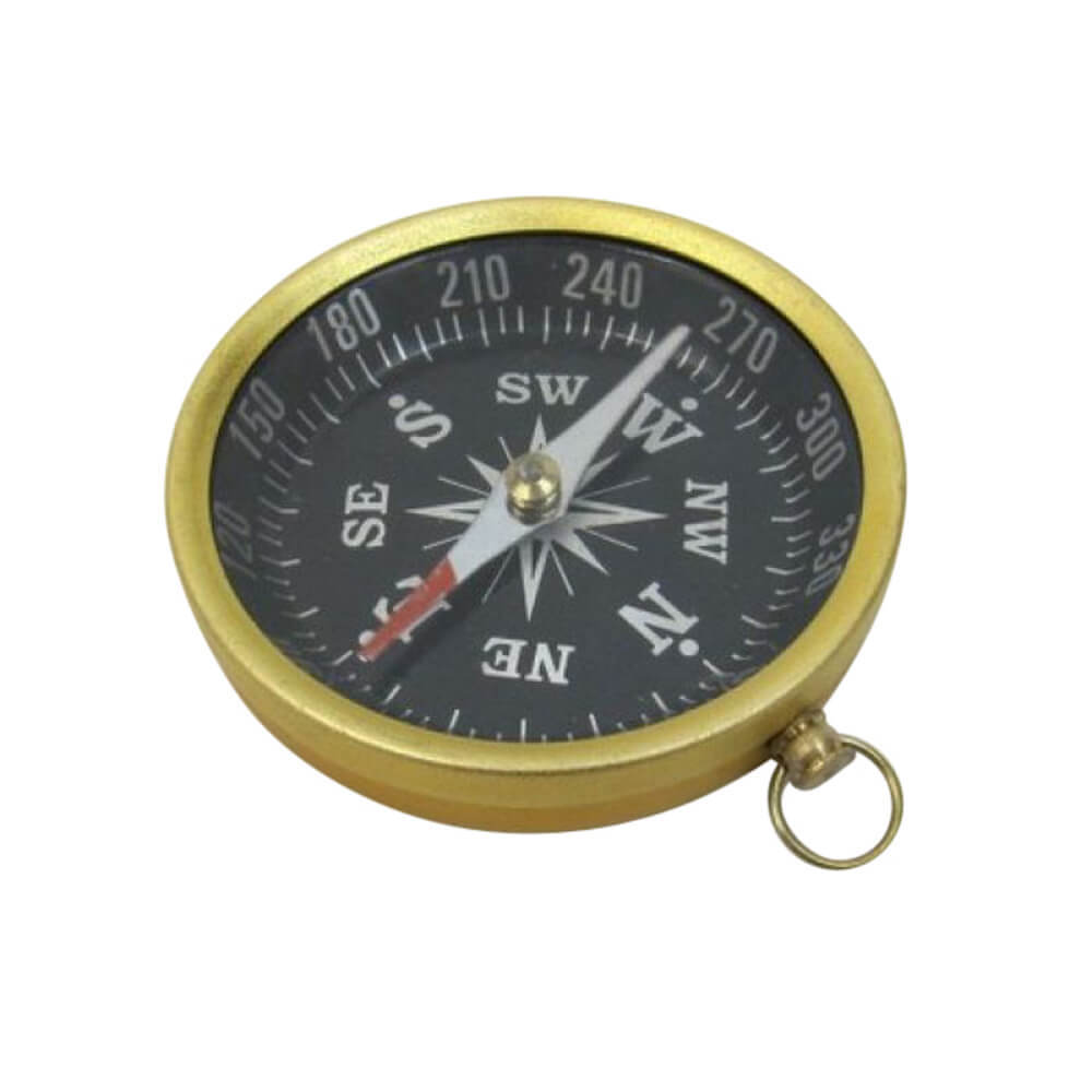 Aluminum Flat Compass with Black Dial