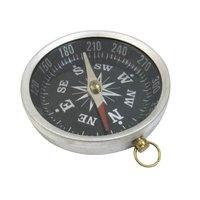 Aluminum Flat Compass Black Dial