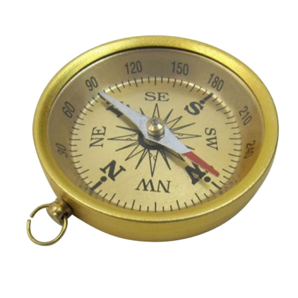 Aluminum Compass Gold Finish