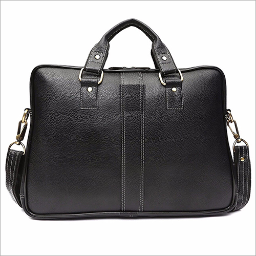 Black Leather Office Bag