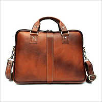 Crossbody Leather Office Bag