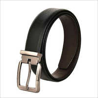 Mens Sleek Black Leather Formal Belt