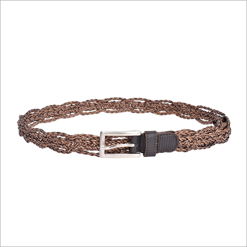 Ladies Brown Braided Belt