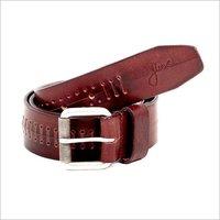 Mens Leather Braided Belt
