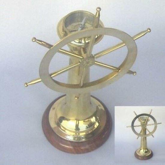 Nautical Ship Wheel Compass