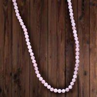 Handmade Jewelry Manufacturer 8 mm Round Rose Quartz Gemstone Rosary Jaipur Rajasthan India