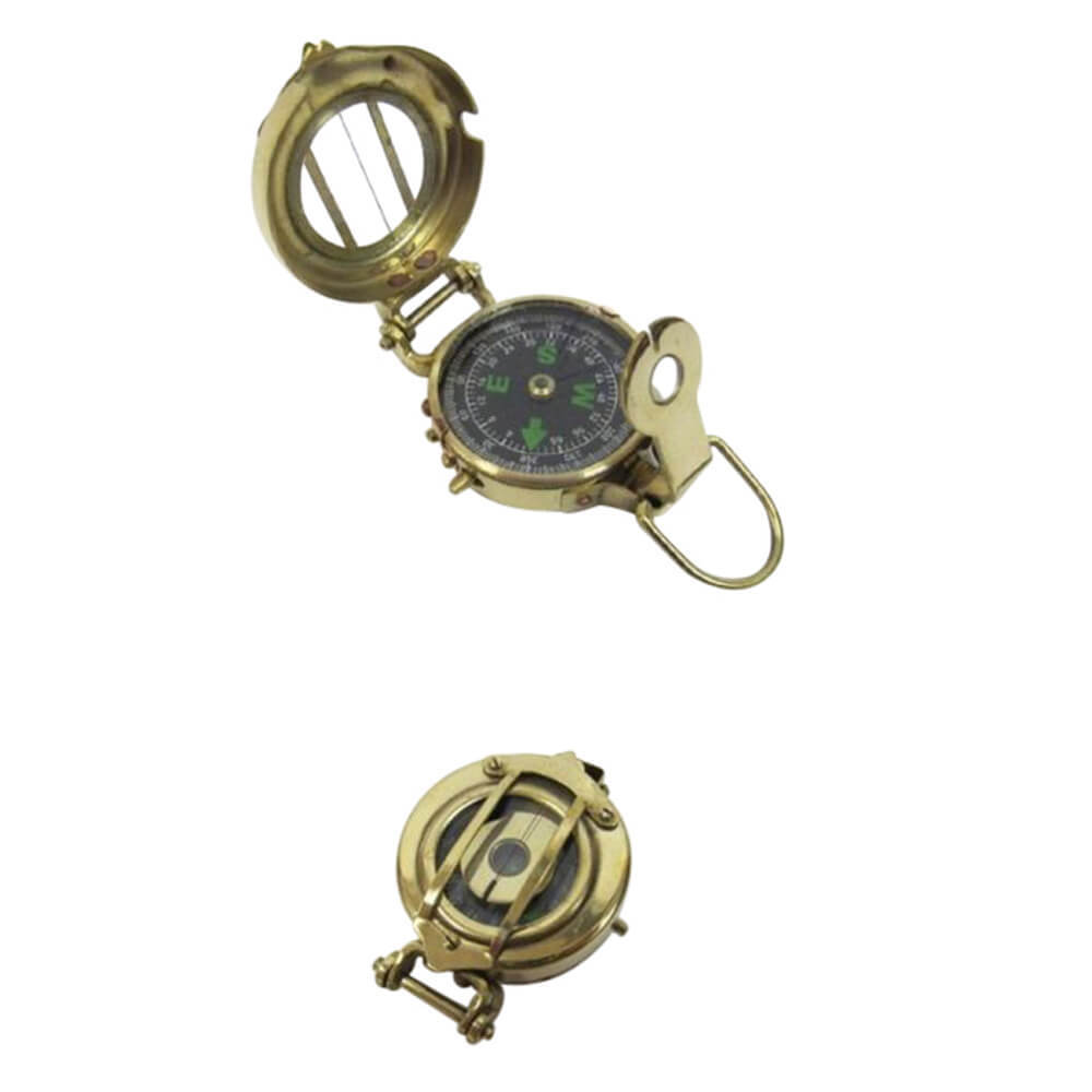 Military Compass Elite Model Polished Brass