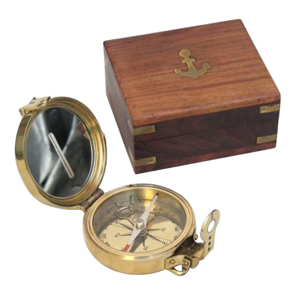 Clinometer Compass Wood Box