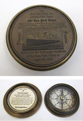 Brass New York Times Titanic Compass