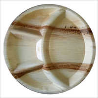 Areca Leaf Plate / Round / 12 inch / 4 Compartment