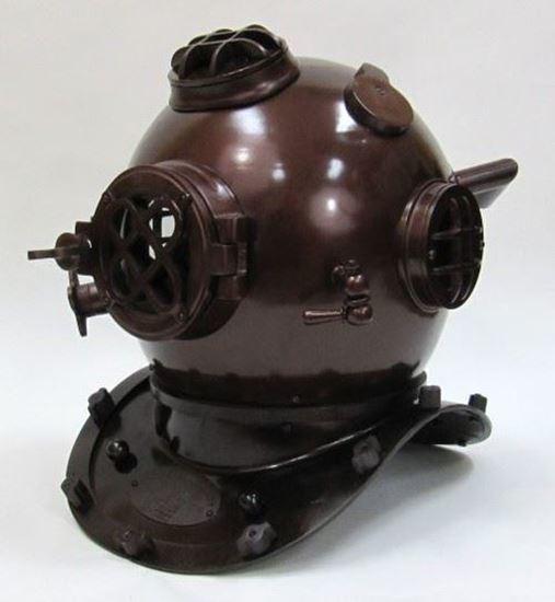 Aluminum & Brass Brown Diver Helmet