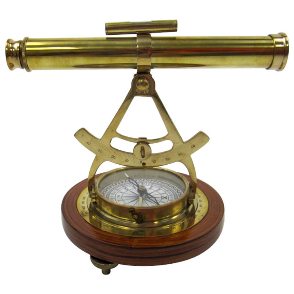 Alidade Polished Brass Compass