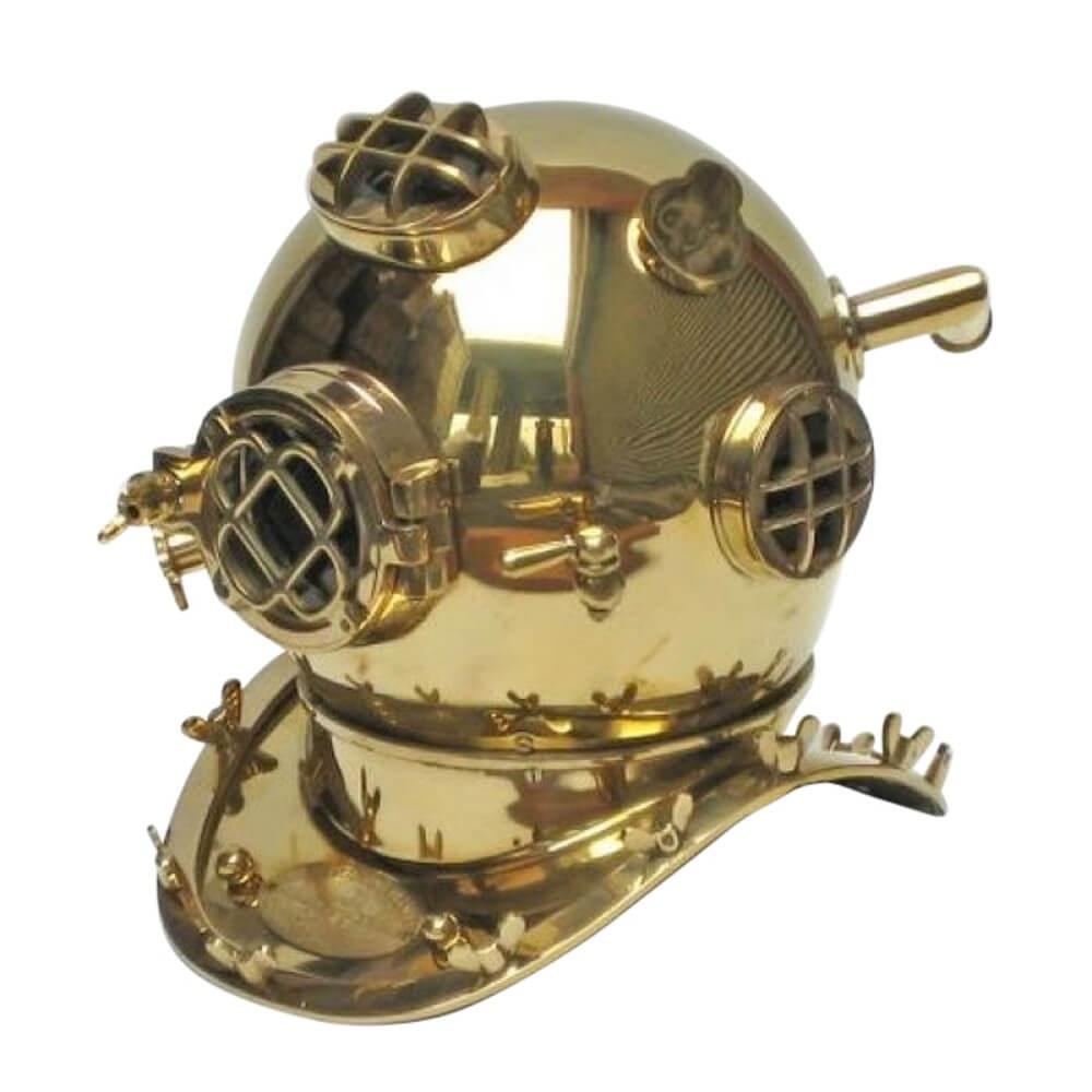 Divers Helmet Brass Plain