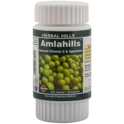 Amla Capsule for Healthy Hair & Digestion - Amlahills 60 Capsule