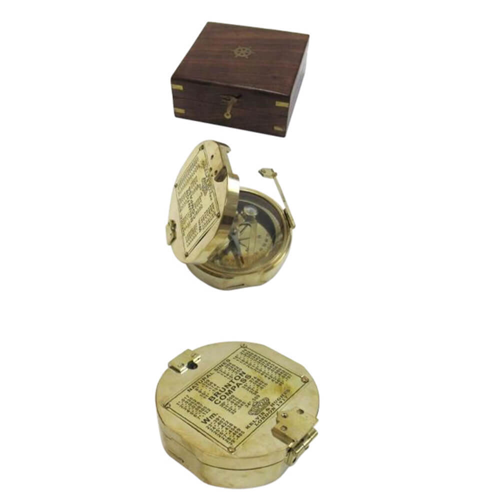 Brunton Compass with box Brass