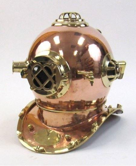Copper Brass Diver Helmet US NAVY