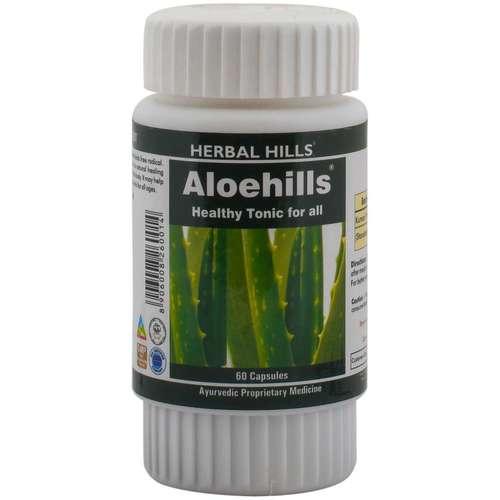 Aloevera capsule for healthy skin & Digestion - Aloehills 60 capsule