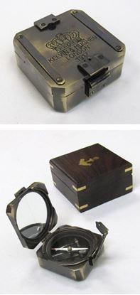 Solid Brass Square Brunton Compass