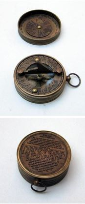 Pocket Sundial Compass with Lid