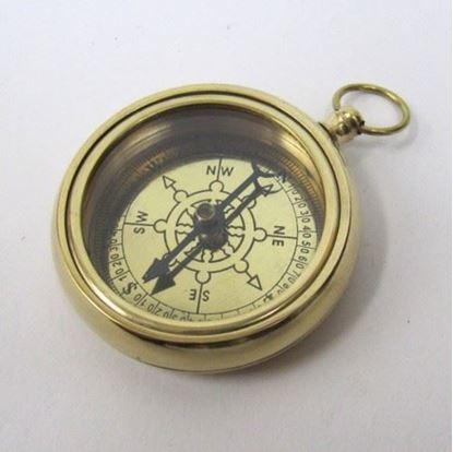 Brass Ship Wheel Pocket compass 2 Inch