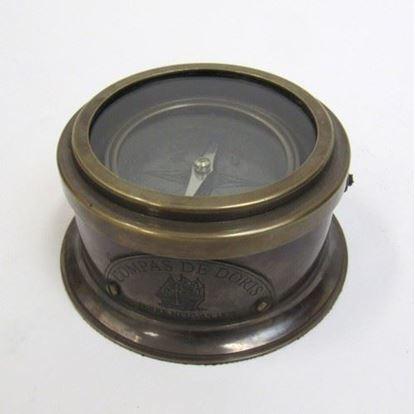Antique Brass Binnacle Compass