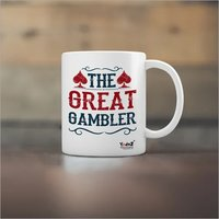 The Great Gambler Yedaz White Ceramic Bollywood Coffee Mug | 330 m