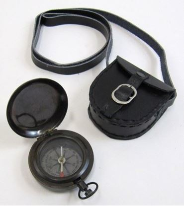 Black Dalvey Compass With Leather Case