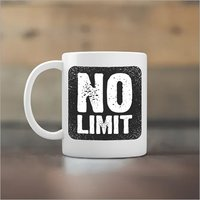No Limit Yedaz White Ceramic Bollywood Coffee Mug | 330 m