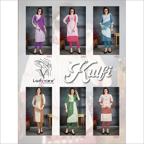 Designer Handloom Cotton with handwork Long Kurti