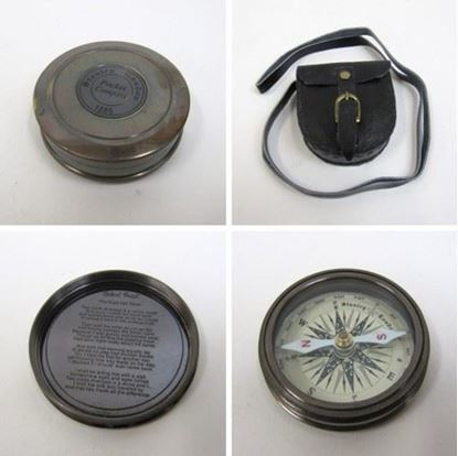 Solid Brass Robert Frost Poem Compass