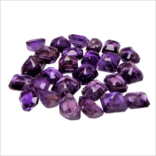 Natural Amethyst Loose Gemstone Rectangle shape(Pack of 1 Pc.)