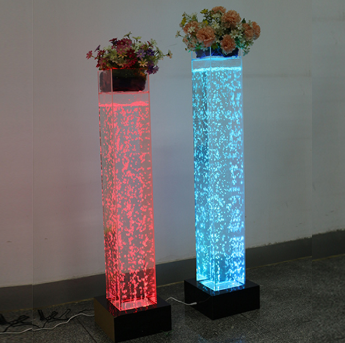 Factory Cheap Hot Wedding Decorative Led Water Bubble Tube