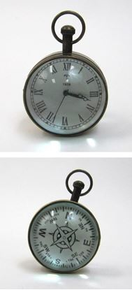 Paper Weight Watch Round Glass